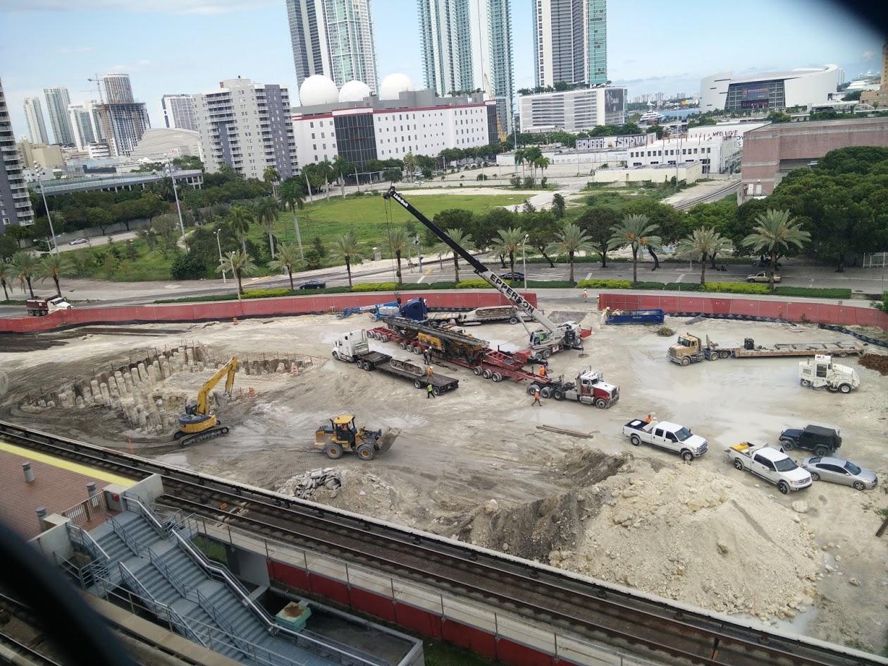All Aboard Florida Train Miami Station Ground Breaking